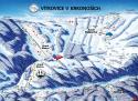 Ski areál Aldrov - Vítkovice v Krkonoších  - mapa areálu