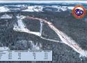Ski areál Aš  - mapa areálu