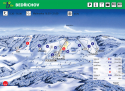 Ski areál Bedřichov  - mapa areálu