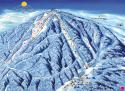 Ski areál Bouřňák  - mapa areálu
