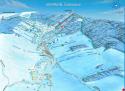 Ski areál Čenkovice  - mapa areálu