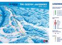 Ski areál Čertov  - mapa areálu