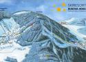 Ski areál Červená Voda - Buková hora  - mapa areálu