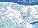 Ski areál Český Jiřetín  - mapa areálu
