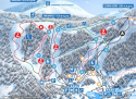 Ski areál Czarna Góra  - mapa areálu
