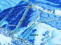 Ski areál Deštné v Orlických horách  - mapa areálu