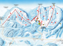 Ski areál Hochficht /Smrčina  - mapa areálu