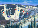 Ski areál Jáchymov - Náprava  - mapa areálu