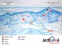 Ski areál Jedlová  - mapa areálu