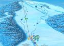 Ski areál Karlov - Čertova hora  - mapa areálu