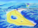 Sjezdovka Klema - Bumbálka  - mapa areálu