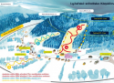 Ski areál Klepáčov  - mapa areálu