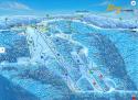 Ski areál Klíny  - mapa areálu