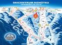 Ski areál Kohútka  - mapa areálu