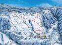Ski areál Kořenov - Rejdice  - mapa areálu