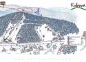 Ski areál Kubova Huť  - mapa areálu