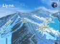 Ski areál Lipno  - mapa areálu