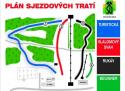 Ski areál Lišák Stříbrná  - mapa areálu