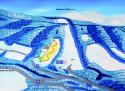 Ski areál Malenovice – P.O.M.A. – Hutě  - mapa areálu