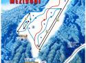 Ski areál Mezivodí  - mapa areálu