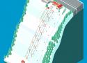 Ski areál Mikulčin Vrch  - mapa areálu