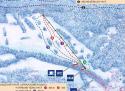 Ski areál Nezdice  - mapa areálu