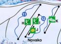Ski areál Novako - Boží Dar  - mapa areálu