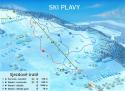 Ski areál Plavy  - mapa areálu