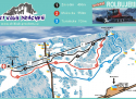 Ski areál Prácheň  - mapa areálu