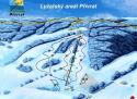 Ski areál Přívrat  - mapa areálu