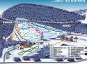 Ski areál Prkenný Důl - Bret Family SkiPark  - mapa areálu