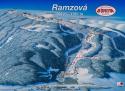 Ski areál Ramzová - Bonera  - mapa areálu