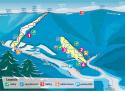 Ski areál Řeka  - mapa areálu