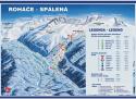 Ski areál Roháče - Spálená  - mapa areálu