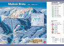 Ski areál Ružomberok - Malino Brdo  - mapa areálu