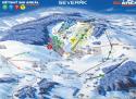 Ski areál Severák  - mapa areálu