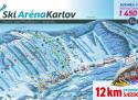 Ski areál Ski Aréna Karlov  - mapa areálu