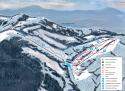 Ski areál SKI Park Gruň  - mapa areálu