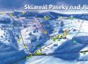 Ski areál Skiareal Paseky nad Jizerou  - mapa areálu