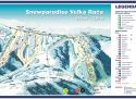 Ski areál Snowparadise Velká Rača  - mapa areálu