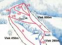 Ski areál Solisko  - mapa areálu