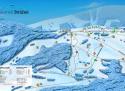 Ski areál Strážné  - mapa areálu