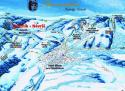 Ski areál Stříbrnice - Návrší  - mapa areálu