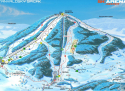 Ski areál Tanvaldský Špičák  - mapa areálu