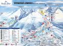 Ski areál Tatranská Lomnica  - mapa areálu