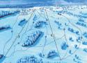 Ski areál U Čápa - Příchovice  - mapa areálu