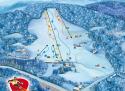 Ski areál U Sachovy studánky  - mapa areálu