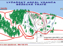 Ski areál Vranča  - mapa areálu