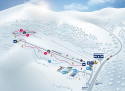 Ski areál Vrchlabí - Kněžický vrch  - mapa areálu