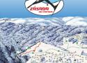Ski areál Zásada  - mapa areálu